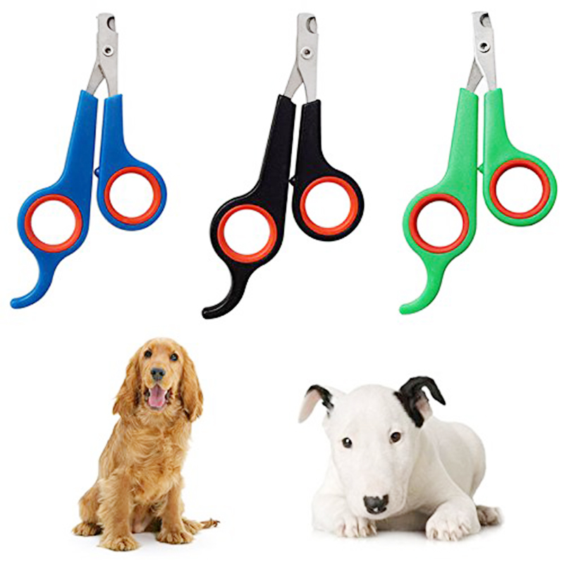 Professional Pet Dog Cat Rabbit Claw Nail Clipper Trimmer Scissor - Blue+Red