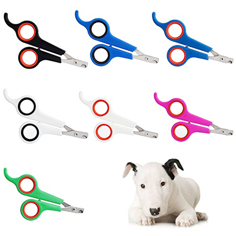 Professional Pet Dog Cat Rabbit Claw Nail Clipper Trimmer Scissor - White+Red