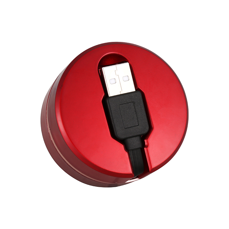 1M 3 in 1 Portable Type-C Micro USB Lightning Charger Stretch Charge Cable - Red