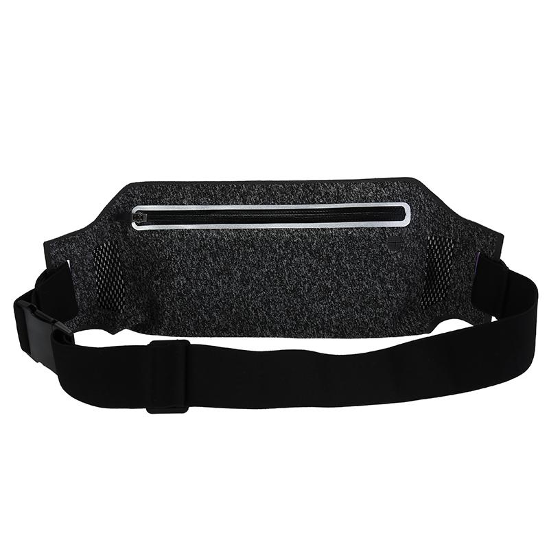 Outdoor Sports Running Waist Bag Pack Adjustable Waterproof Waist Phone Holder - Black