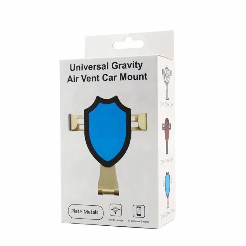 K306 Universal Gravity Car Mount Air Vent Cell Phone Holder Cradle - Rose Golden