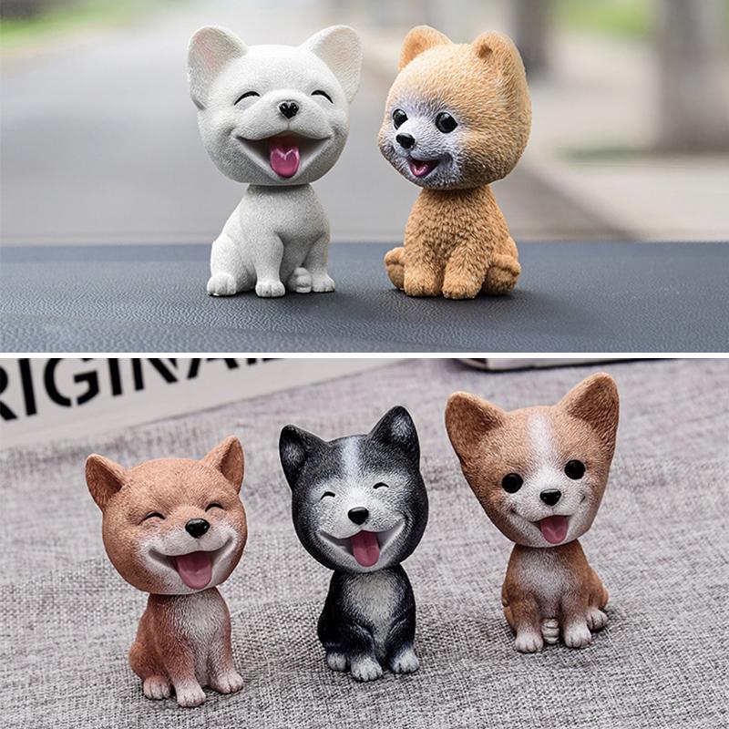 Baby Toys Cute Simulation Shaking Head Dog Puppy Toy Car Decoration Ornaments - Bomei