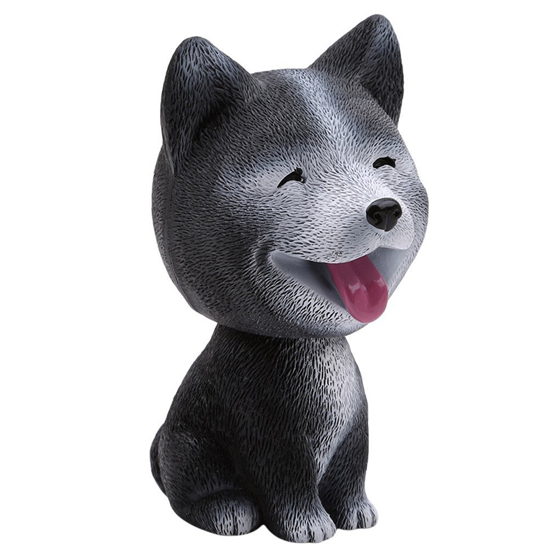 Baby Toys Cute Simulation Shaking Head Dog Puppy Toy Car Decoration Ornaments - Husky