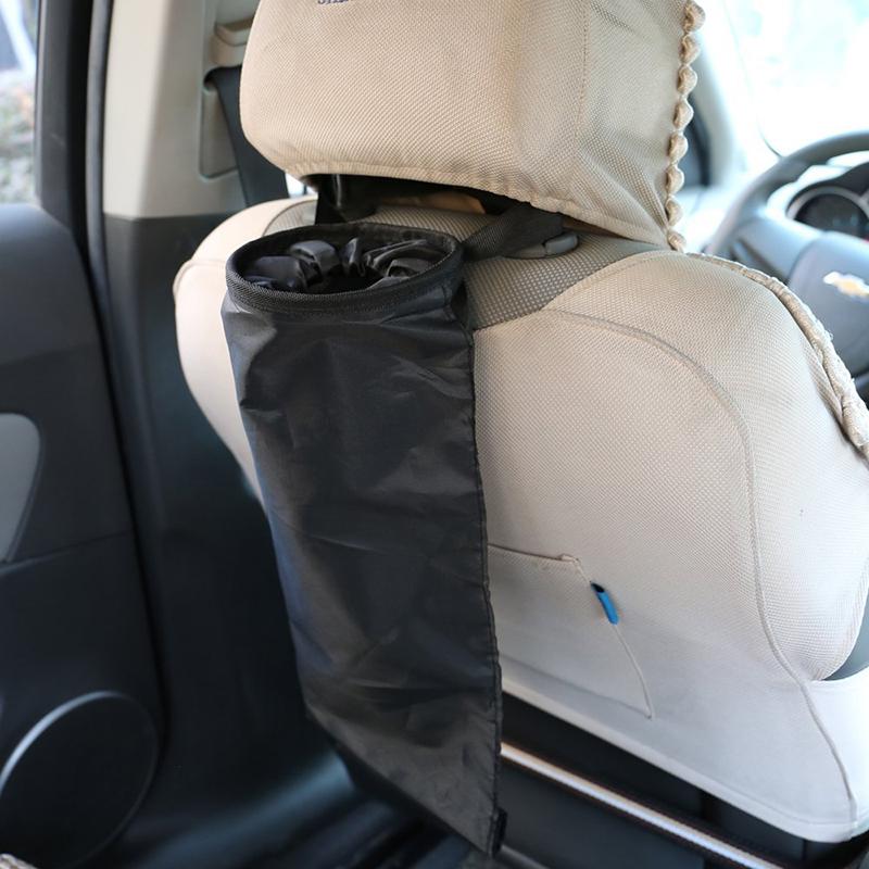 Car Vehicle Back Seat Headrest Litter Trash Garbage Bag Storage Packbag