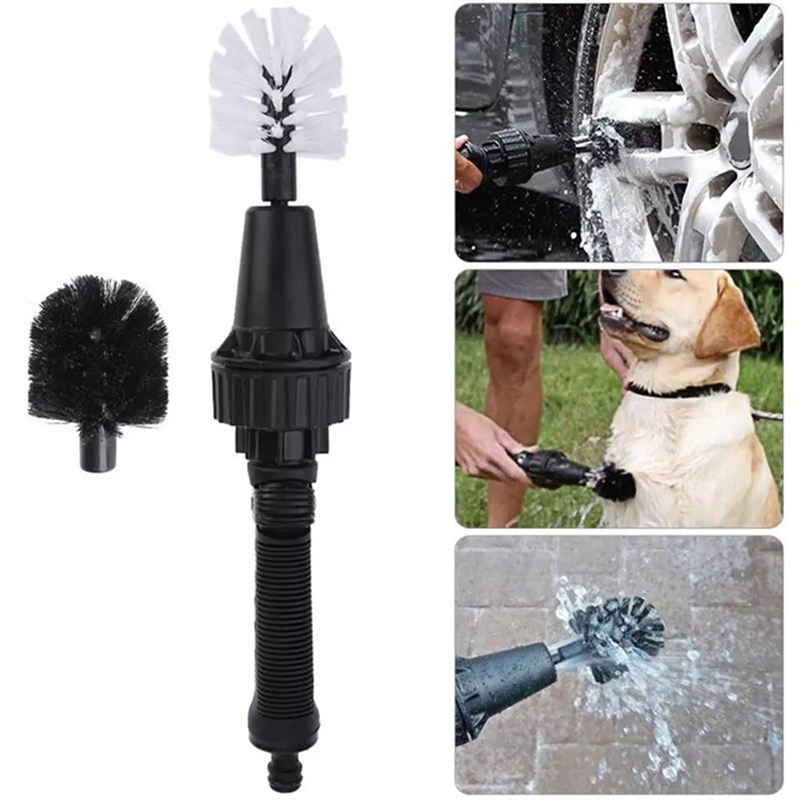 Hero Wheel Brush Premium Water-Powered Turbine Cleaner for Rims Engines Bikes Equipment