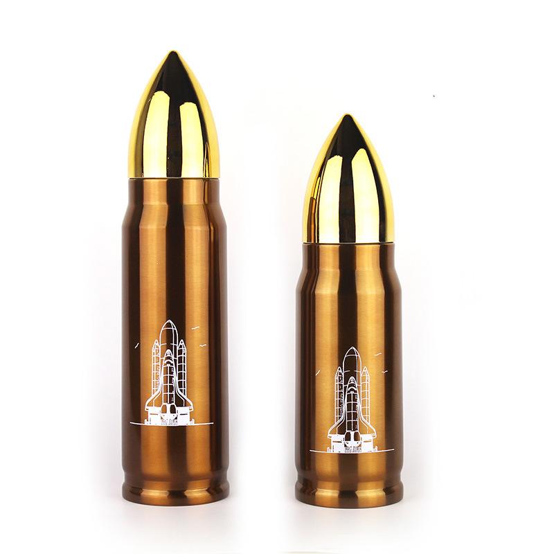 500ML Stainless Steel Bullet Vacuum Insulated Water Flask Bottle Travel Mug - Copper
