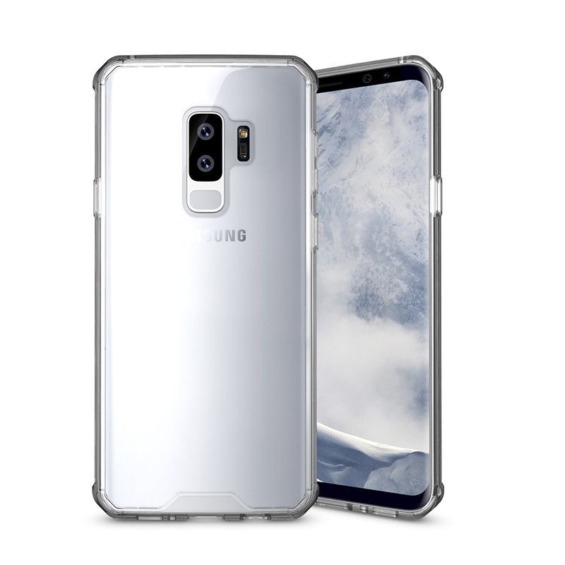 Slim Shockproof Hybrid Hard Bumper Phone Case Cover for Samsung S9 Plus - Transparent