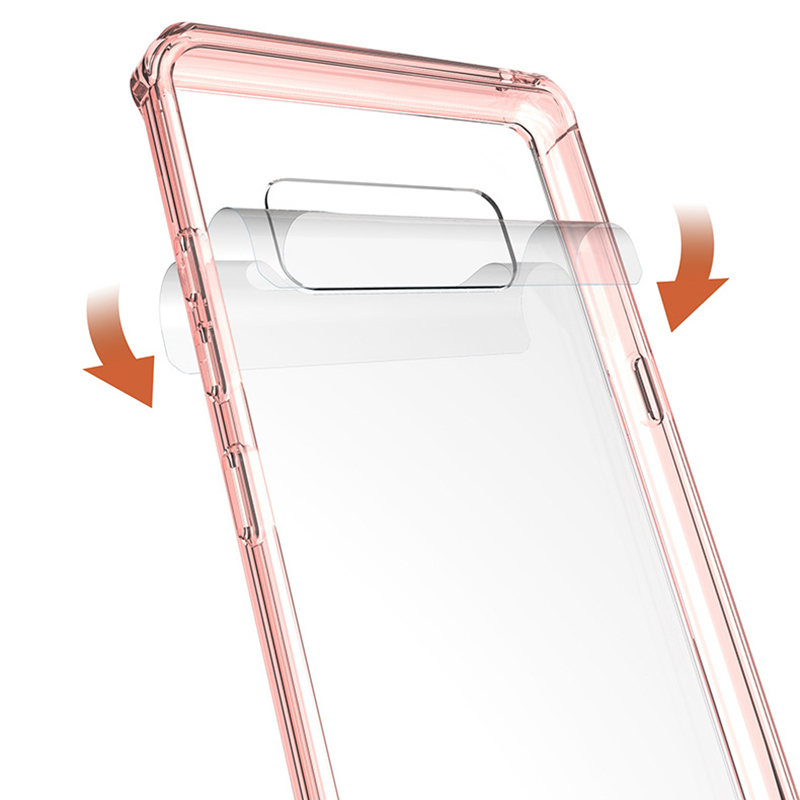 Shockproof TPU Bumper Hybrid Arcylic Back Phone Case for Samsung Note 8 - Pink