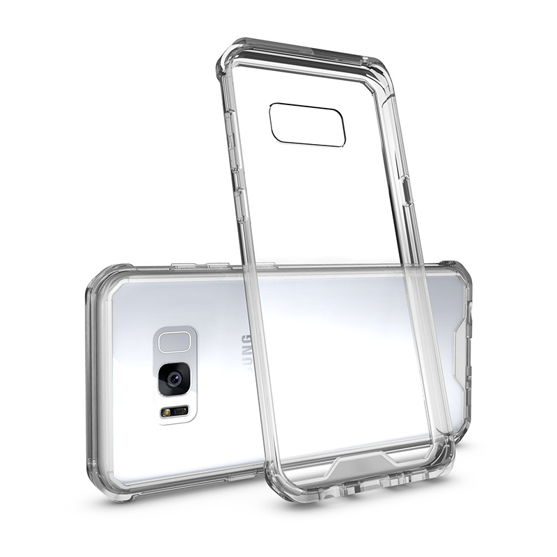 Acrylic Clear Hard Back Hybrid Bumper Cover Case for Samsung Galaxy S8 Plus - Transparent