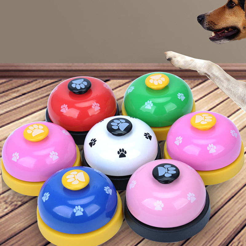 Pet Puppy Dog Cat Training Bells Meal Bells Potty Training Toys Tools - White + Black