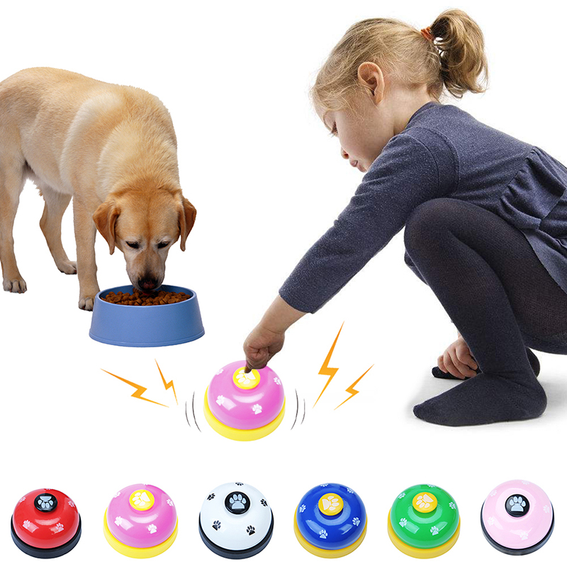 Pet Puppy Dog Cat Training Bells Meal Bells Potty Training Toys Tools - Red + Black