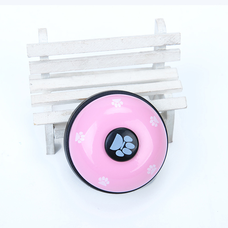 Pet Puppy Dog Cat Training Bells Meal Bells Potty Training Toys Tools - Pink + Black