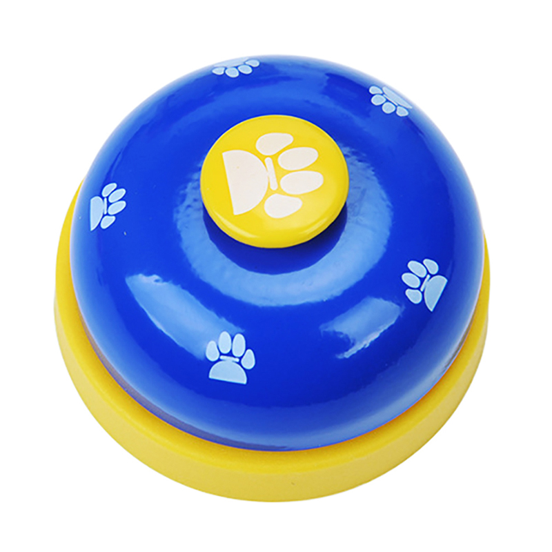 Pet Puppy Dog Cat Training Bells Meal Bells Potty Training Toys Tools - Blue + Black