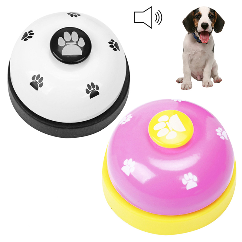 Pet Puppy Dog Cat Training Bells Meal Bells Potty Training Toys Tools - Rose Red + Black
