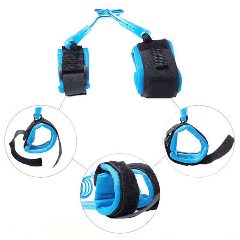 2M Kids Child Anti Lost Wrist Strap Harness Leash Safety Wristband Traction Hand Belt - Blue