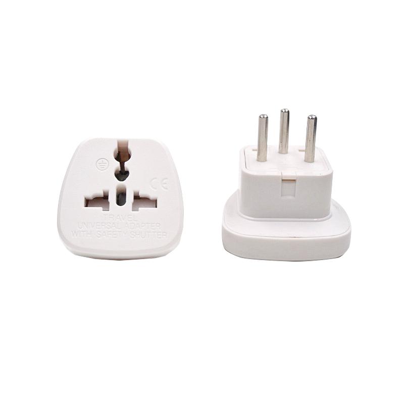 CE Certified UK to Israel 3 Pin Travel Universal Adaptor Plug - White