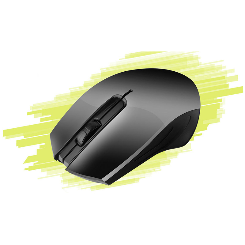 1000DPI 2.4G Wireless Optical Gaming Mouse for Gamer PC Laptop Computer - Black