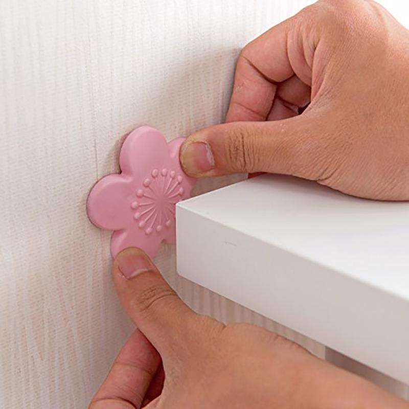 Door Lock Shock Pad Wear-resistant Wall Protector Self Adhesive Crash Pad - Pink