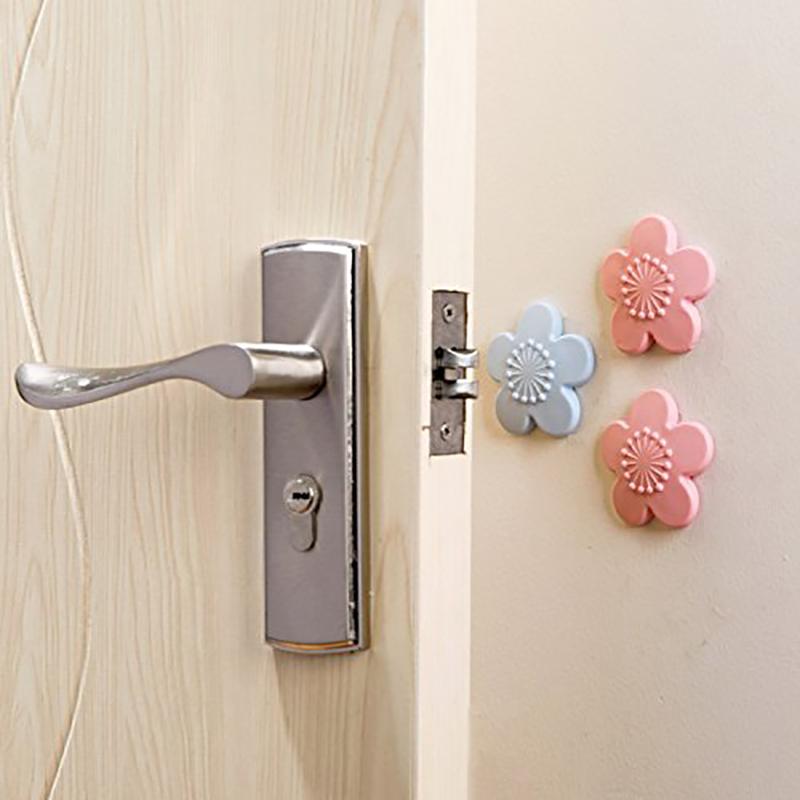 Door Lock Shock Pad Wear-resistant Wall Protector Self Adhesive Crash Pad - Purple