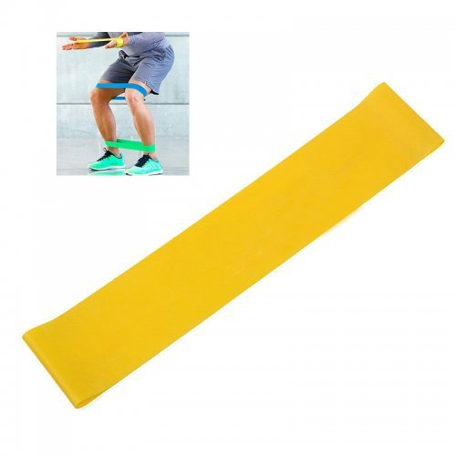 Exercise Fitness Resistance Bands Yoga Pilates Loop Training Crossfit Gym Strap - Yellow