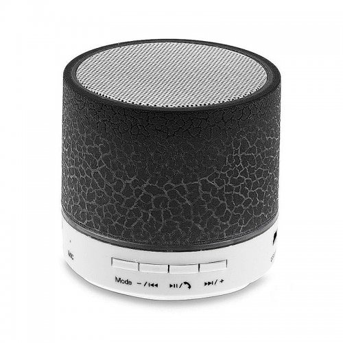 Mini Crack Pattern Wireless Bluetooth Speaker for iPhone Samsung - Black