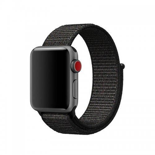 42mm Sports Nylon Wrist Band Watchband Strap Bracelet for Apple Watch - Black