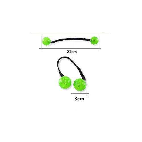 Thumb Chucks Roll Control Stress Reliever Night Glowing Yo-yo Fidget Spinner Toys - Green