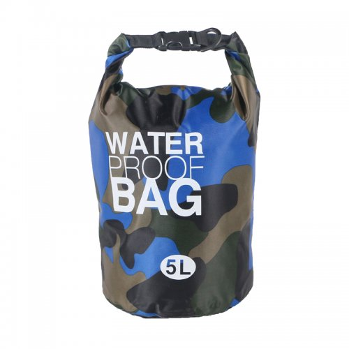 5L Waterproof Dry Bag Ultralight Camouflage Outdoor Pouch Organizer for Drifting Swimming Camping - Royal Blue