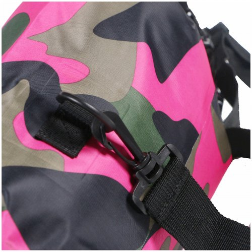 20L Camouflage Waterproof Bag Compression Sack Storage Dry Pouch for Boating Drifting Beach - Rose Red