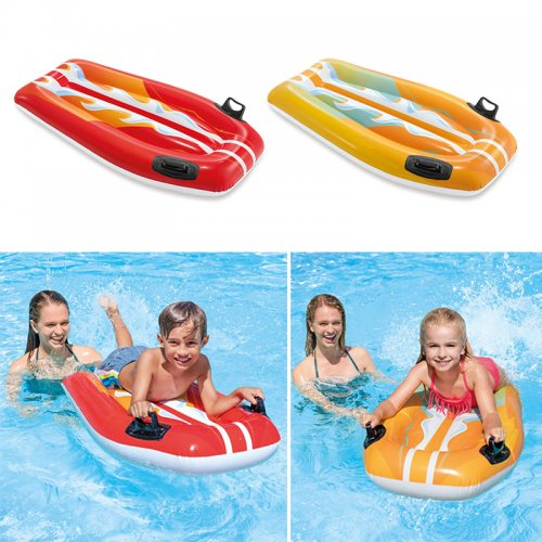 Kid's Inflatable Joy Rider Floats Children's Swimming Pool Surfboard Ride Toys Assorted Colour