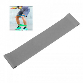 Exercise Fitness Resistance Bands Yoga Pilates Loop Training Crossfit Gym Strap 500*50*0.9mm- Gray