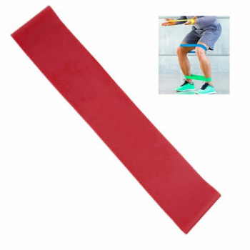 Exercise Fitness Resistance Bands Yoga Pilates Loop Training Crossfit Gym Strap 500*50*0.65mm - Red