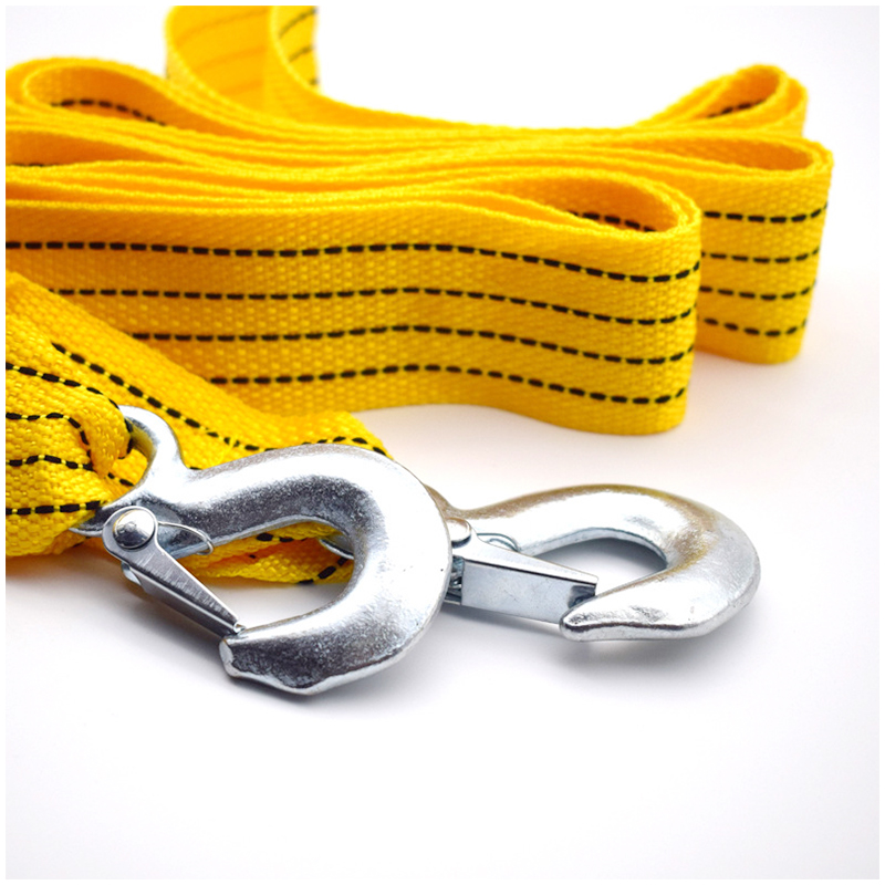 3 Tons 3 Meters Nylon Car Trailer Traction Rope with Two Safety Hooks