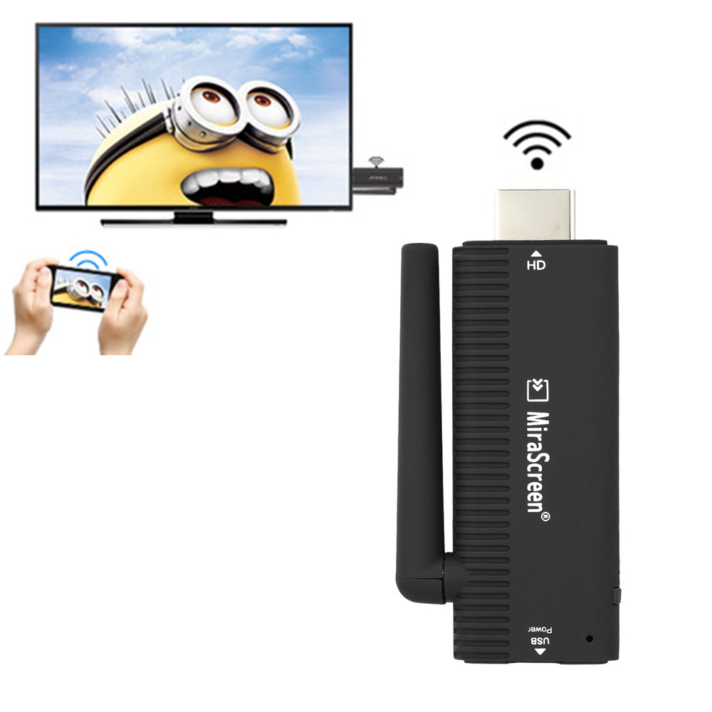 B4 MiraScreen Wireless HD 1080P Miracast Wifi TV Display Airplay Dongle
