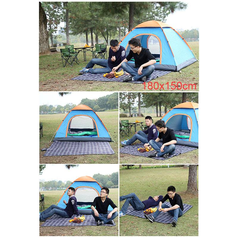 180x150CM Outdoor Beach Picnic Mat Folding Waterproof Camping Sleeping Pad - Blue+Green