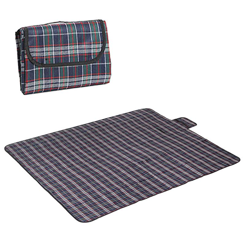 180x150CM Outdoor Beach Picnic Mat Folding Waterproof Camping Sleeping Pad - Blue+Green+Red
