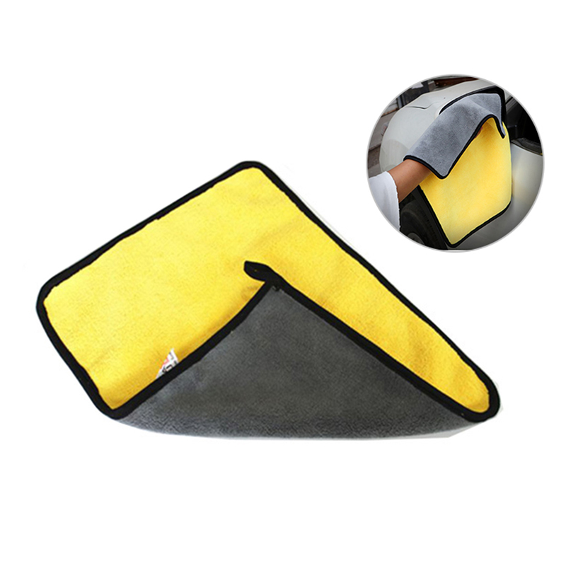 Car Cleaning Towel Super Absorbent Wiping Cloth Car Clean Tools - Yellow