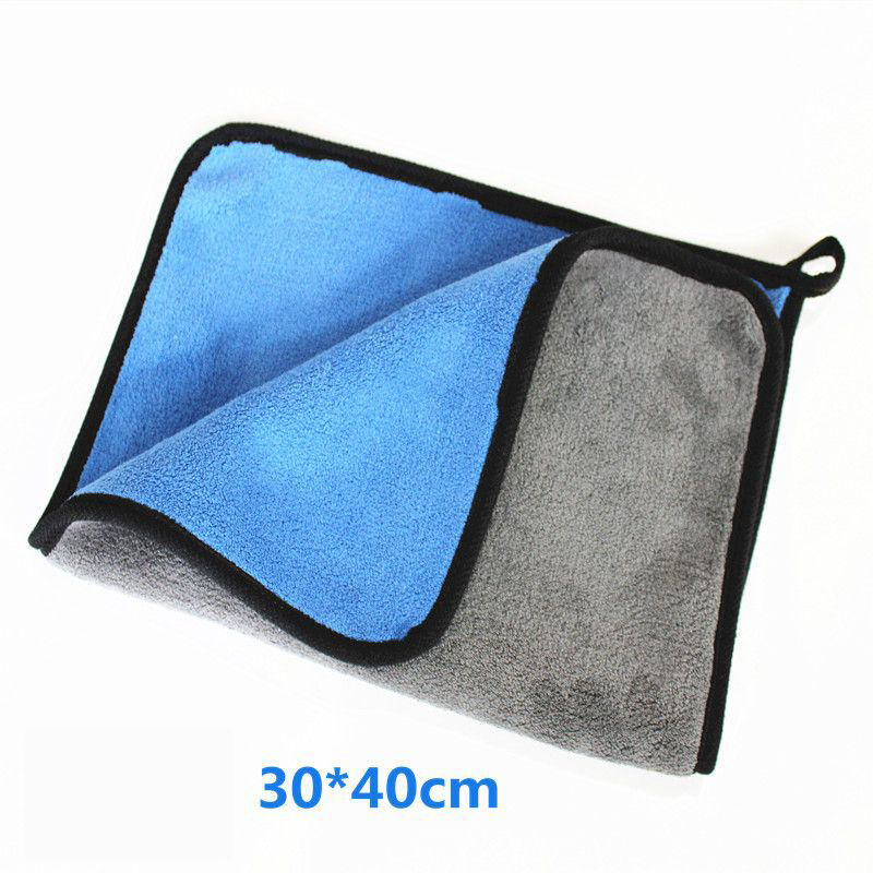 Car Cleaning Towel Super Absorbent Wiping Cloth Car Clean Tools - Blue