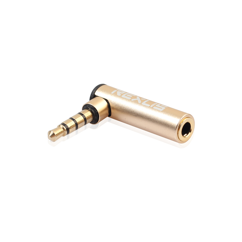 3.5mm Male to Female 90 Degree Right Angled Adapter Audio Microphone Jack Stereo Plug Connector