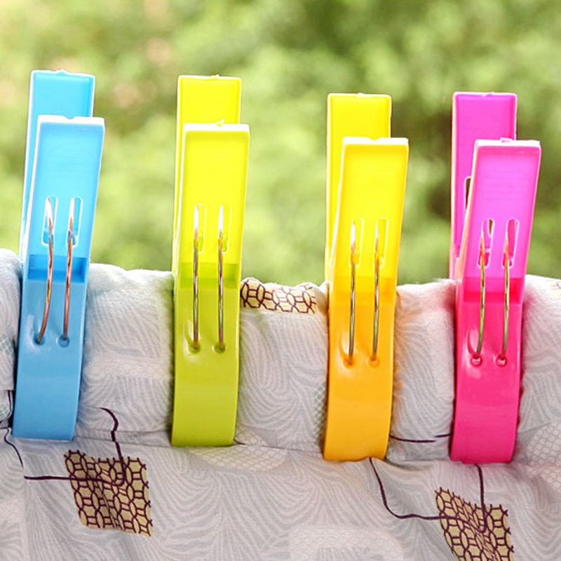 Large Plastic Towel Clips Pegs Beach Quilt Clothes Pins to Sunbed - Random Colour