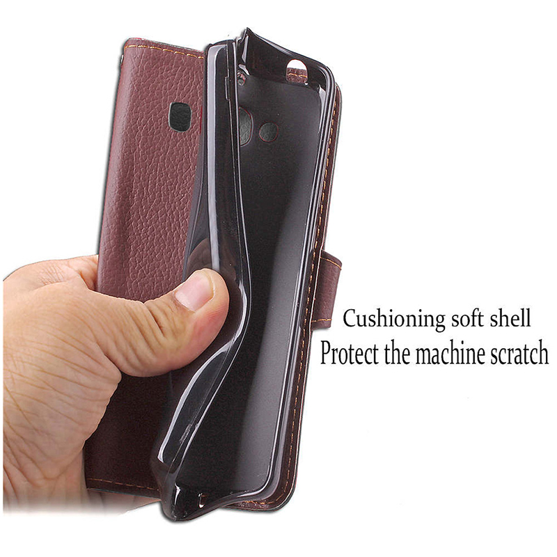 Litchi Leaf Wallet PU Leather Flip Stand Case Cover for Huawei Honor 10 - Black