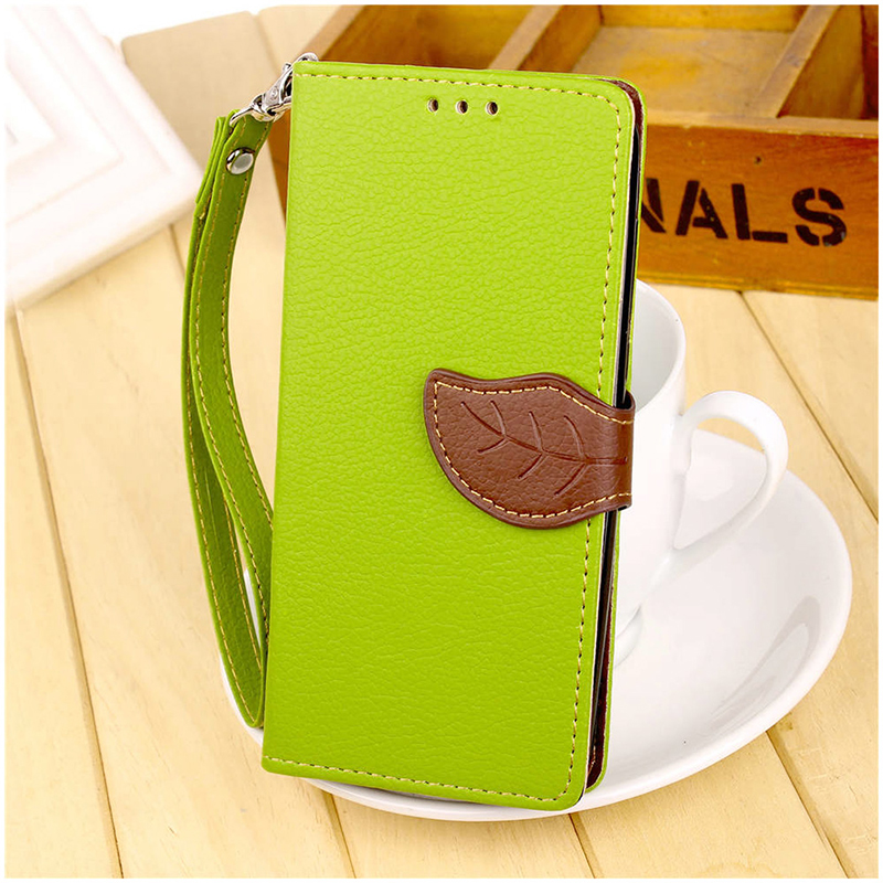 Litchi Leaf Wallet PU Leather Flip Stand Case Cover for Huawei Honor 10 - Green