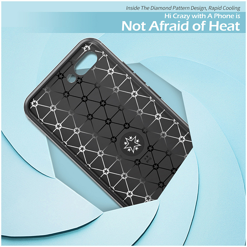 Metal Magnetic Ring Rotation Stand Soft TPU Shockproof Case Back Cover for Huawei Honor 10 - Black