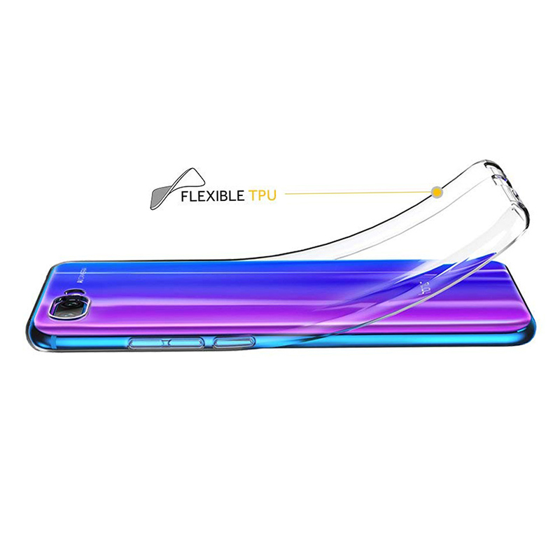 Ultra-thin Crystal Clear Flexible TPU Silicone Case Back Cover for Huawei Honor 10
