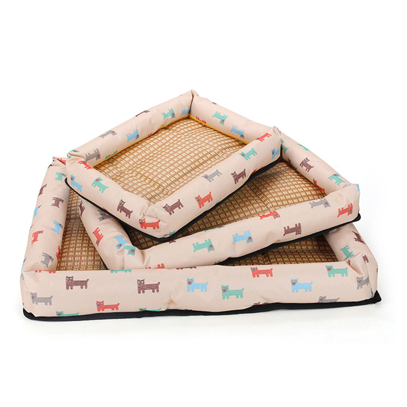 Summer Pet Bed Dog Cat Nesting House Breathable Waterproof Puppy Bed Size L - Beige