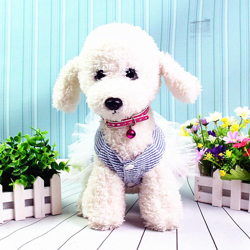 Pet Clothes Puppy Small Dog Cat Cotton Lace Tutu Skirt Princess Dress Size XS - Blue