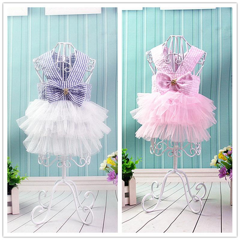 Small Pet Dog Dress Tutu Skirt Cat Puppy Cute Princess Clothing Size XL - Pink