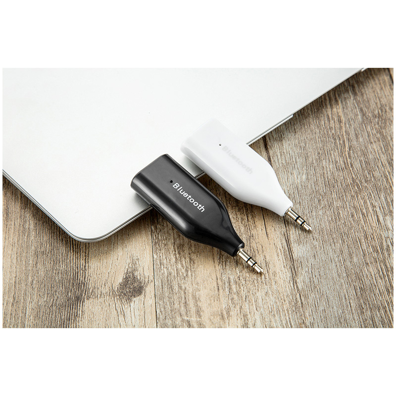 BM-E6 Wireless Bluetooth Receiver to Devices Audio with 3.5mm Jack Plug - White
