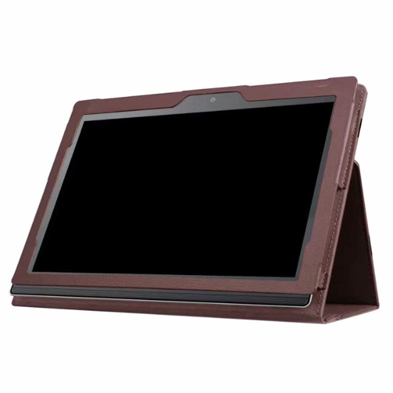 Protective PU Leather Folio Stand Cover Case for Lenovo MIIX 320 10.1 Inch - Brown