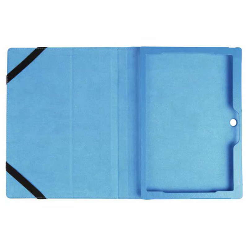 Protective PU Leather Folio Stand Cover Case for Lenovo MIIX 320 10.1 Inch - Sky Blue